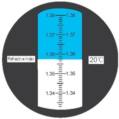 Refraktometr indexu lomu 1.333-1.380 - 1 kus