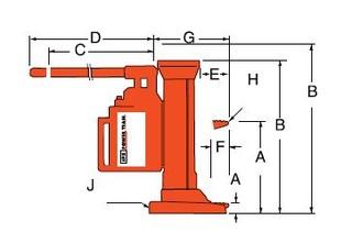 Patkový hever POWER TEAM, typ J259T - 1 ks