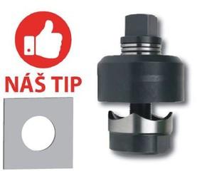Kruhové děrovače plechu tloušťky 3 mm s ložiskem