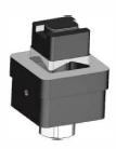 Čtvercový děrovač s ložiskem - 30 x 30 mm